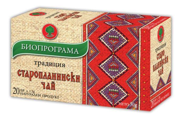 Старопланински чай филтър 20 бр. Биопрограма